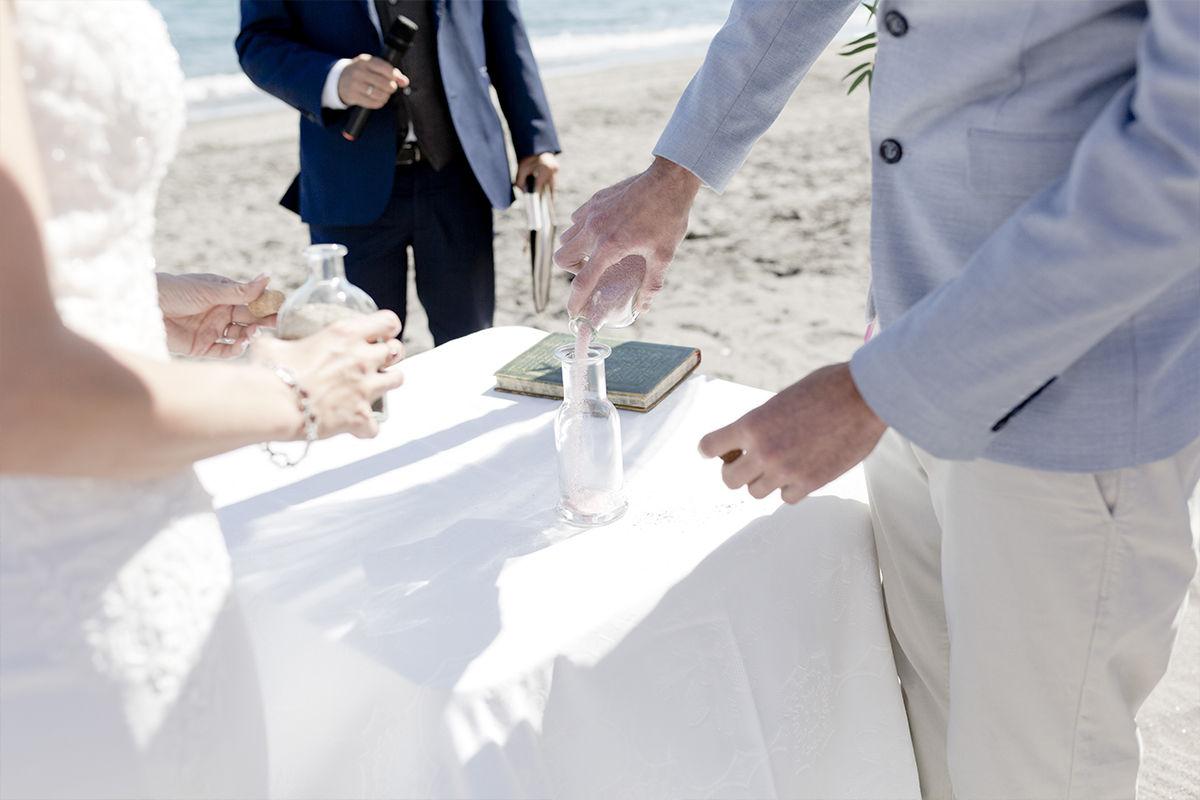 Spanish wedding tradition sand